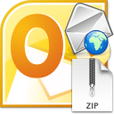Outlook Zip and Email Files Quickly Software icon