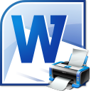 MS Word Print Multiple Documents Software icon