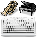 Use Computer Keyboard As MIDI Musical Instruments Software icon
