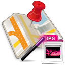Google Maps Save Multiple Locations As JPG Image Files Software icon