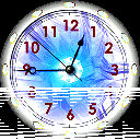 Rainbow Fire Clock icon