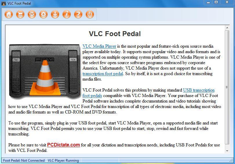VLC Foot Pedal latest version - Get best Windows software