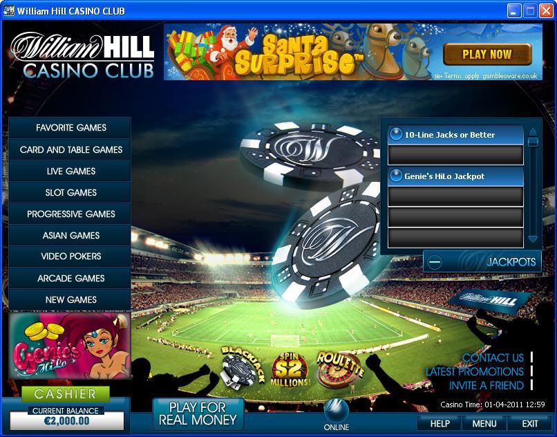 William Hill Casino Club.Com