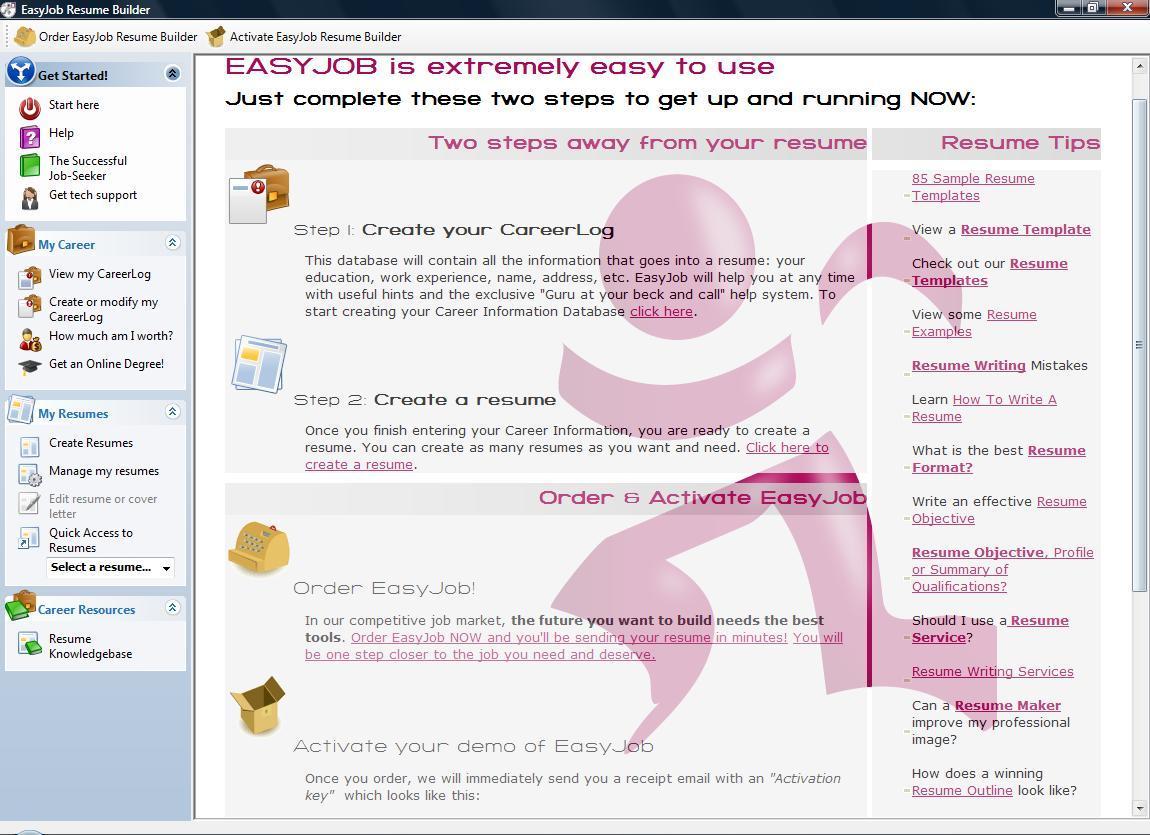 Easyjob resume builder download resume sample nurse manager