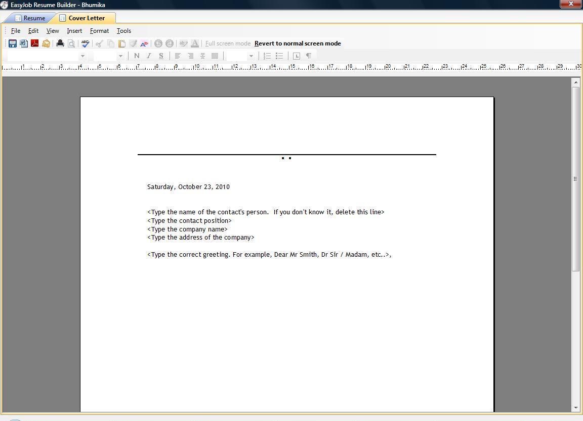 Easyjob resume builder download resume on marketing