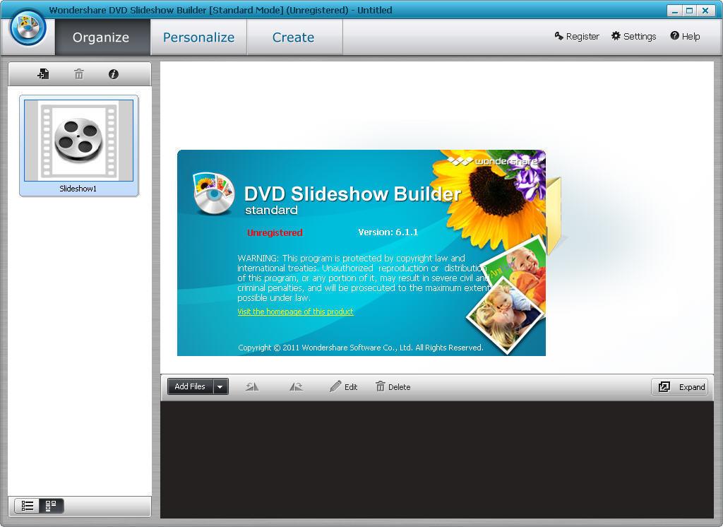 Wondershare DVD Slideshow Builder Standard download for free - GetWinPCSoft