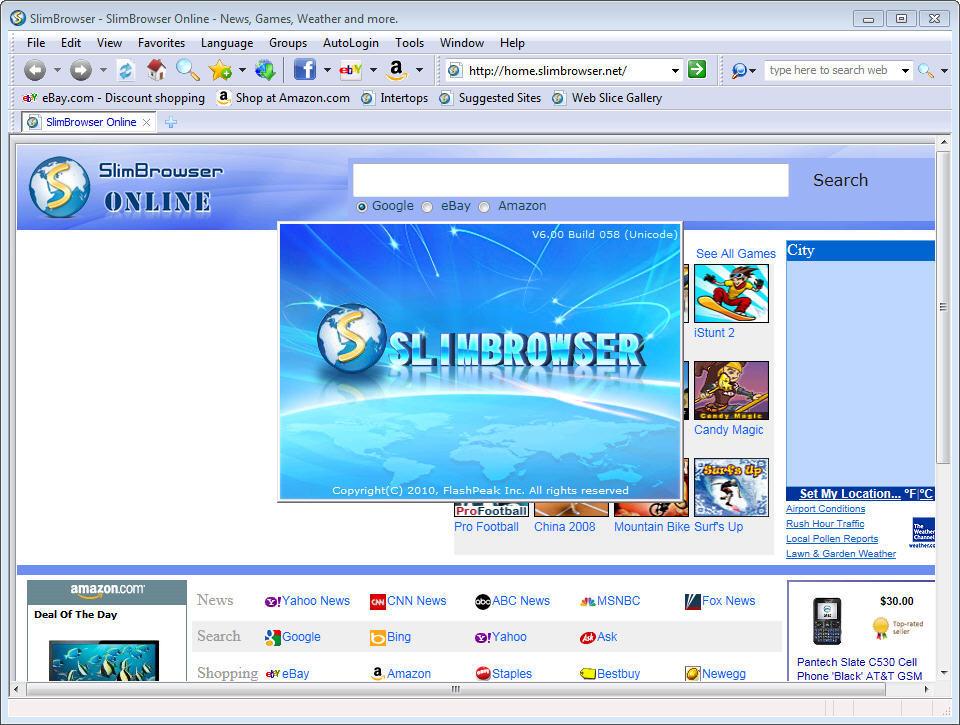 Flashpeak slimbrowser for windows 10