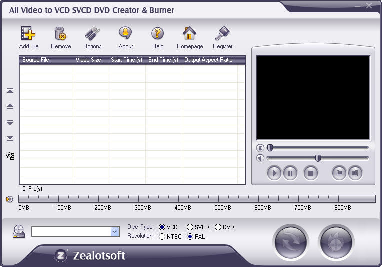Download All Video to VCD SVCD DVD Creator & Burner 4.6 ...