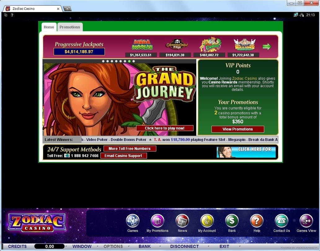Zodiac casino terms and conditions