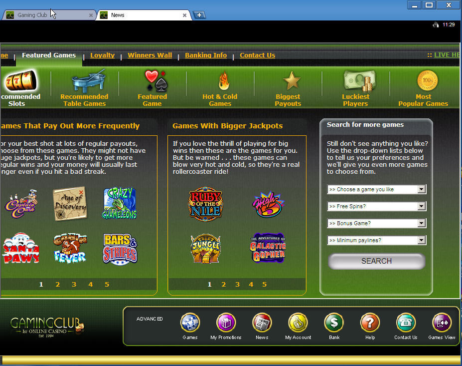 Gaming Club Casino Download