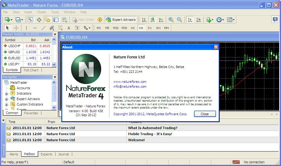 MetaTrader - Nature Forex download for free - GetWinPCSoft