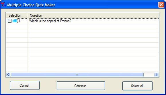 multiple choice quiz generator Free multiple choice quiz maker & test generator by wordsmyth questbase is a web-based, cross-platform test maker and generator that provides everything you need to make multiple choice tests, both on-line and printed.