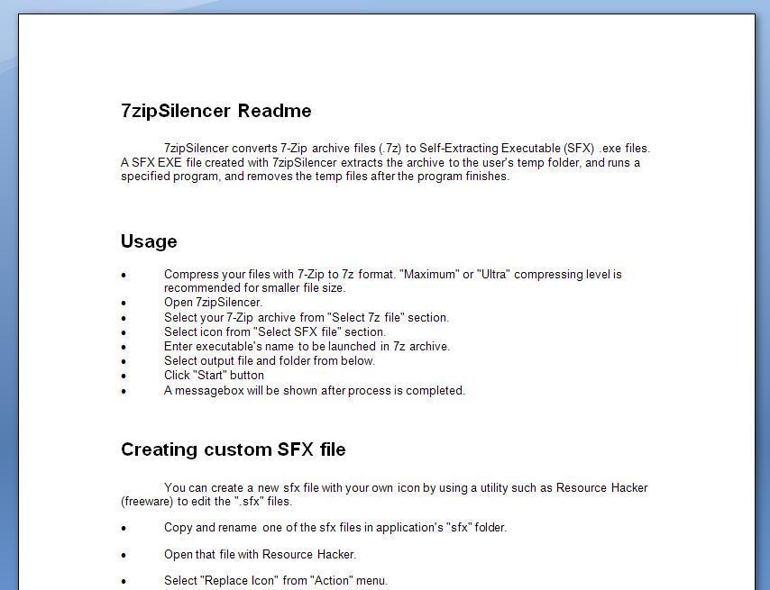 7zipSilencer latest version - Get best Windows software